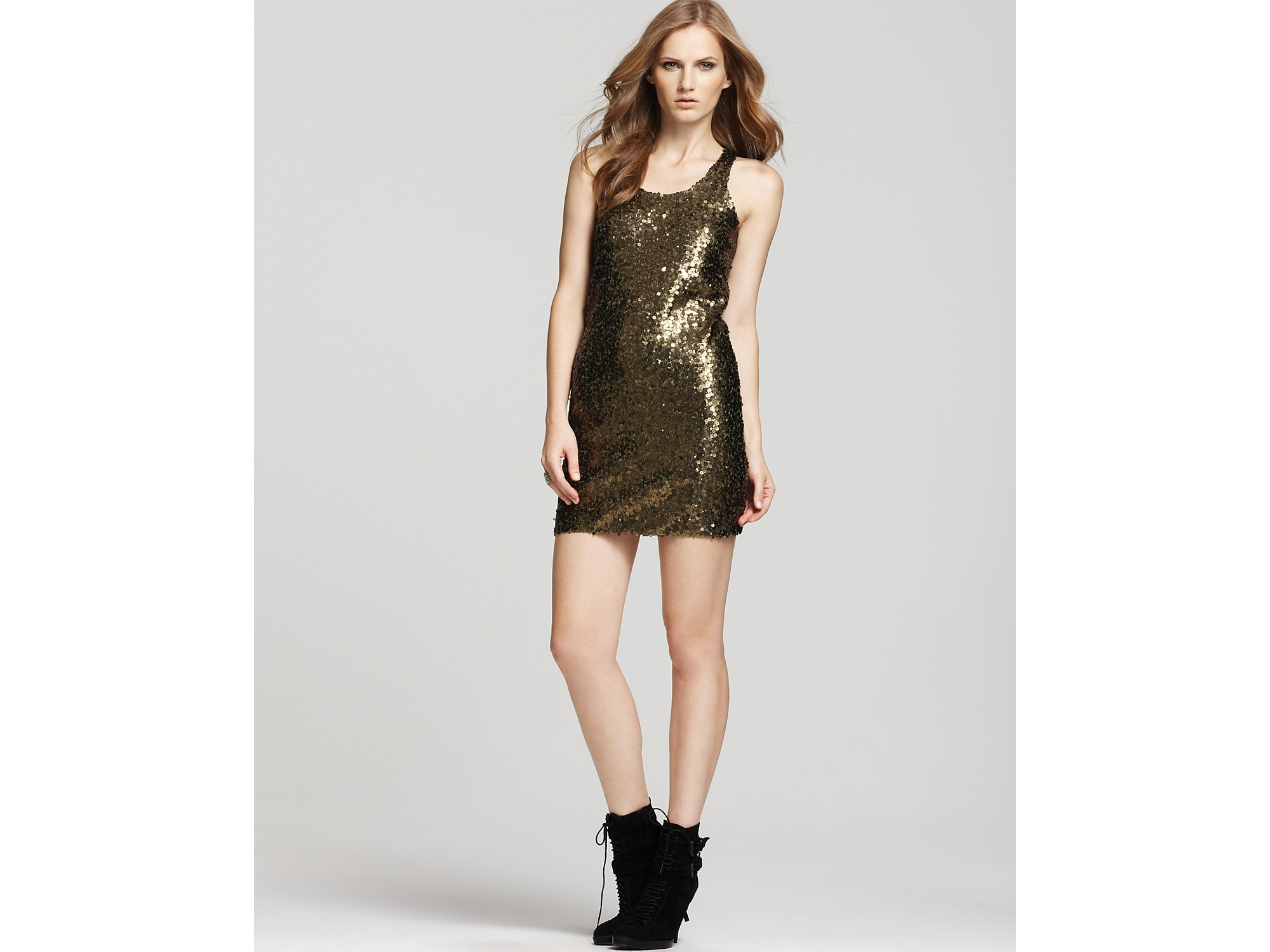 Vince Camuto Gold Evening Dresses