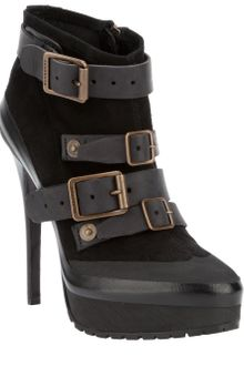 Burberry Buckled Ankle Boot - Lyst