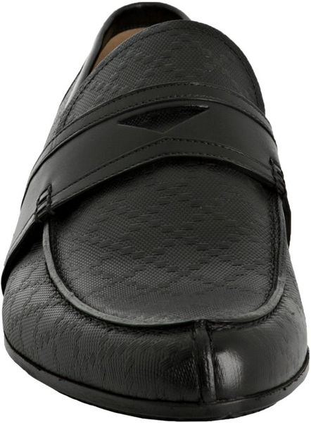 Gucci Black Diamante Slip-on Loafers in Black for Men | Lyst
