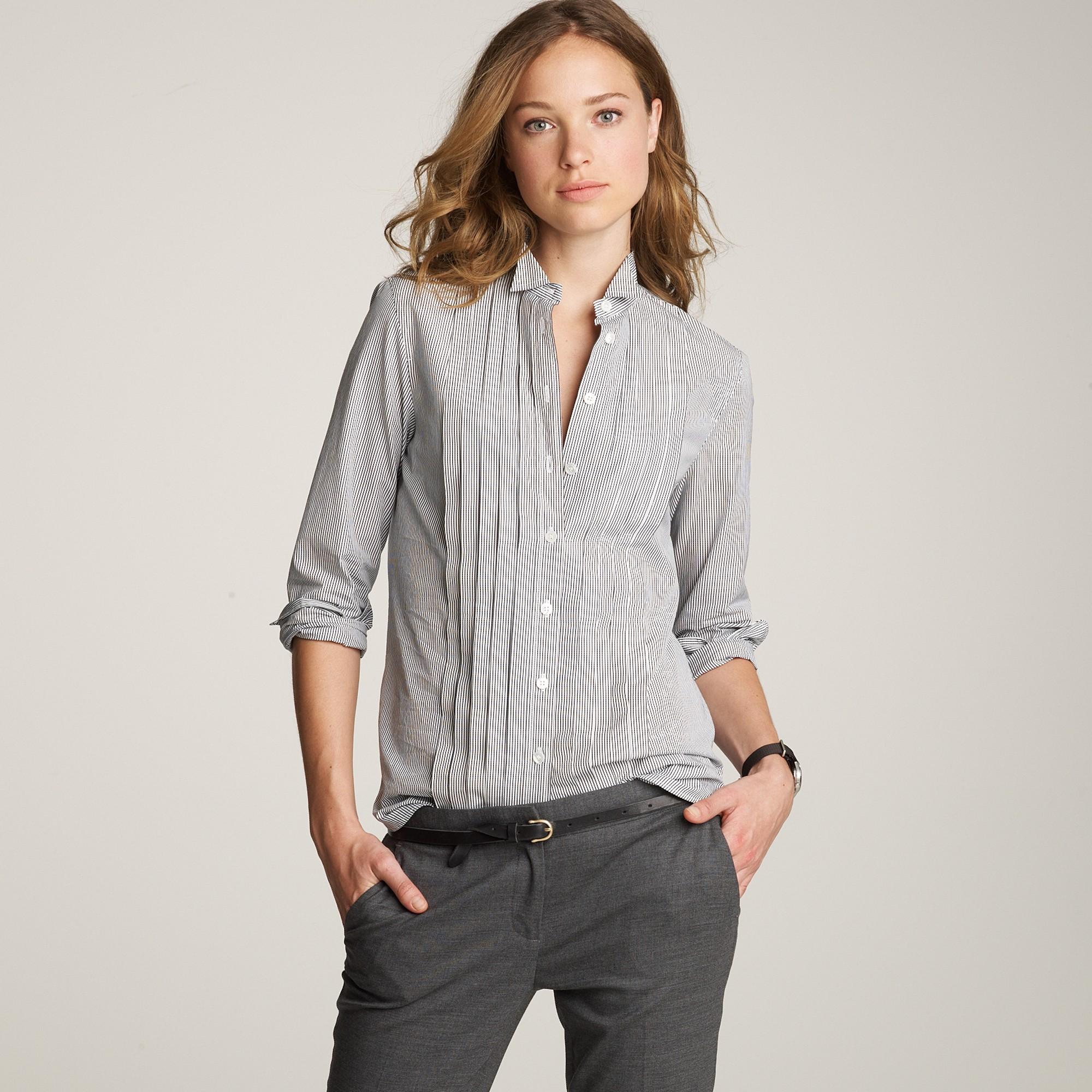 Lyst - Thomas Mason Printed Tuxedo Shirt in Gray 43c4b2e20