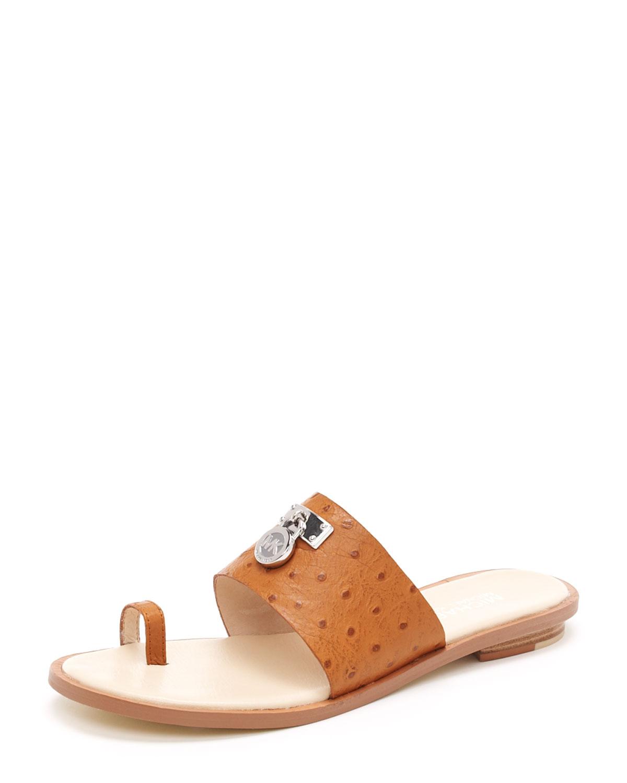 f031e5b49c3 Lyst - Michael Kors Hamilton Toe-ring Sandal in Orange