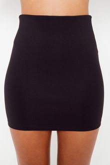 Nasty Gal Scuba Skirt - Black - Lyst