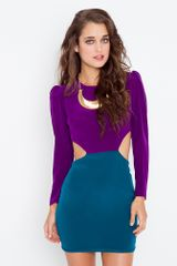 Nasty Gal Silk Cutout Dress