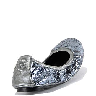 4a48821da727 ... good lyst tory burch pewter glitter ballet flat in metallic 349ff 29a5c  denmark tory burch eddie blue glitter scrunch ...