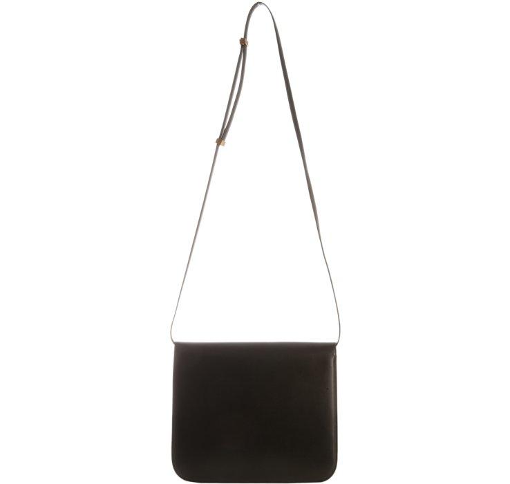 yves saint laurent bags outlet - celine black calfskin leather gold chain hardware flap box ...