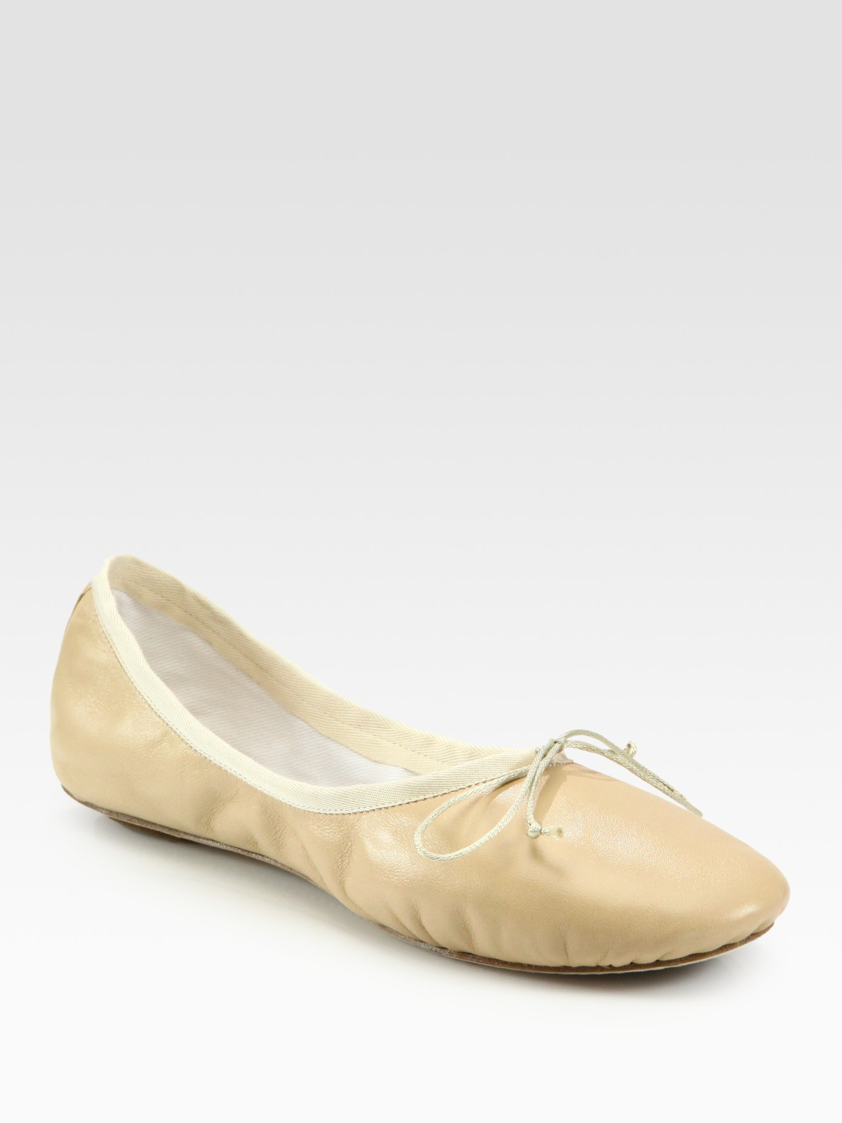 Chlo 233 Leather Ballet Flats In Pink Flesh Lyst