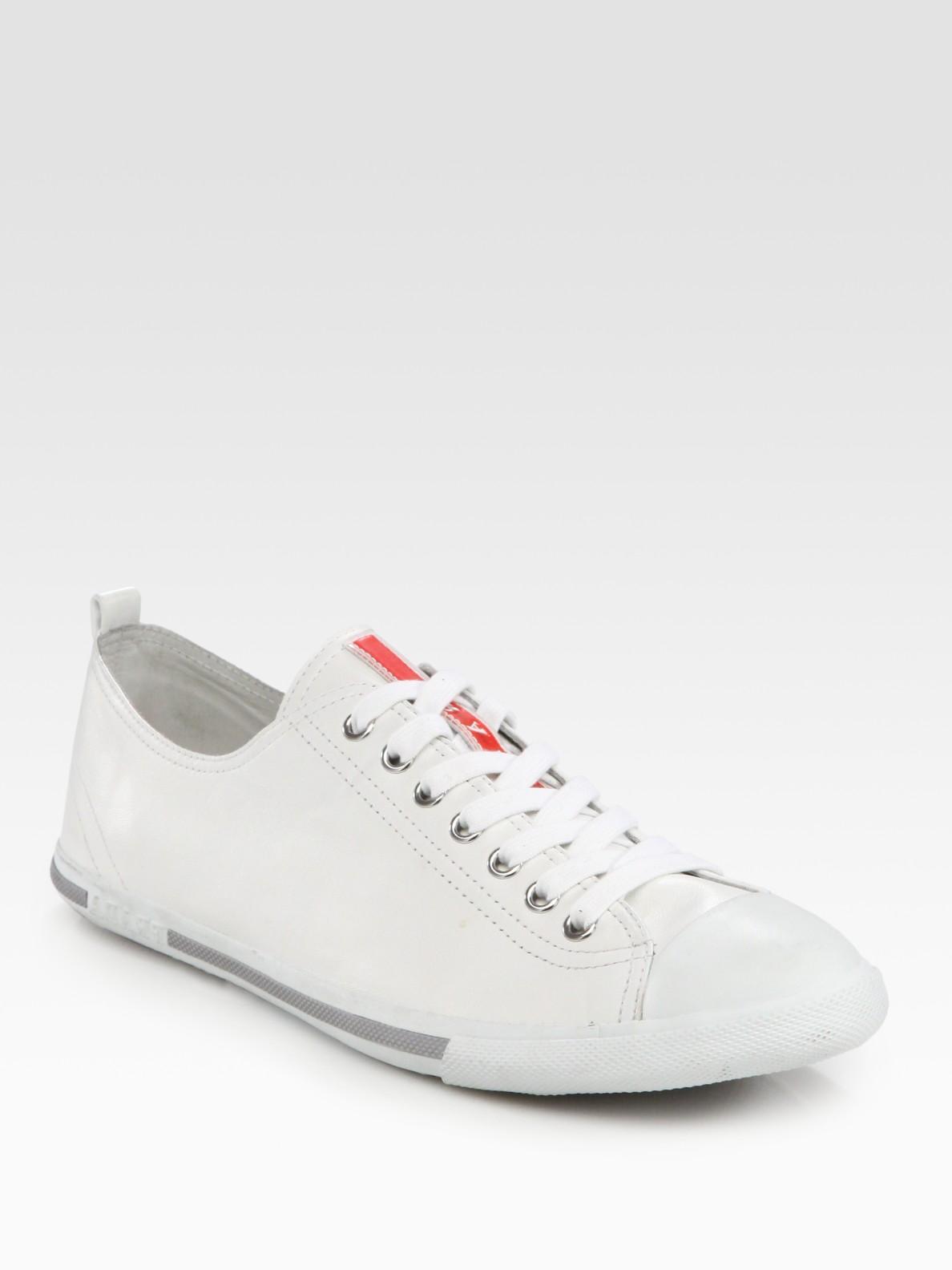 Prada White Cap Toe Platform Slip-On Sneakers lm9cpVV