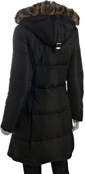 Michael Michael Kors Black Quilted Zip Front Faux Fur