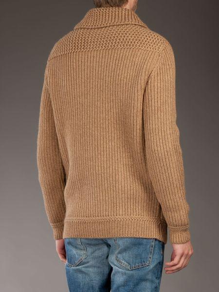 Mens Wool Shawl Collar Sweater