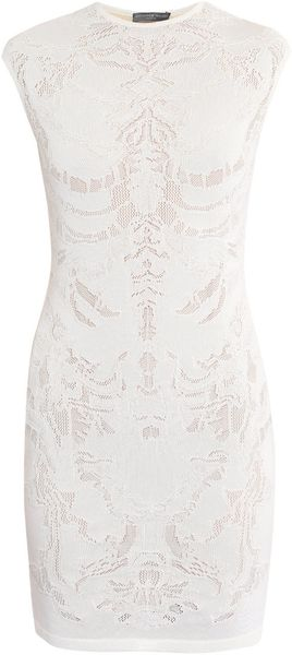 Alexander McQueen Engineered Lace Dress - Lyst