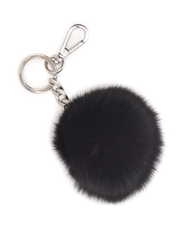 MICHAEL Michael Kors Pompom Key Chain in Black - Lyst 8ea603747