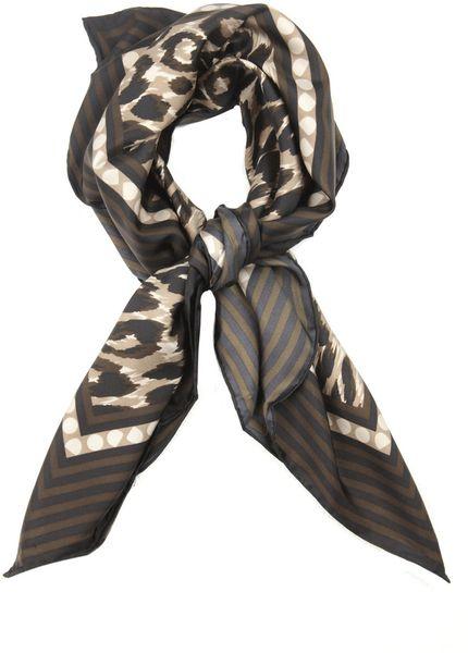 Weekend By Maxmara Cometa Leopard-Print Scarf in Animal (khaki)