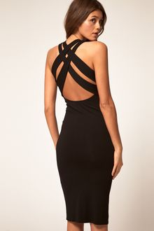 ASOS Collection Asos Midi Dress with Cross Back Strap - Lyst