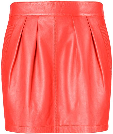 mango leather skirt in 03 lyst