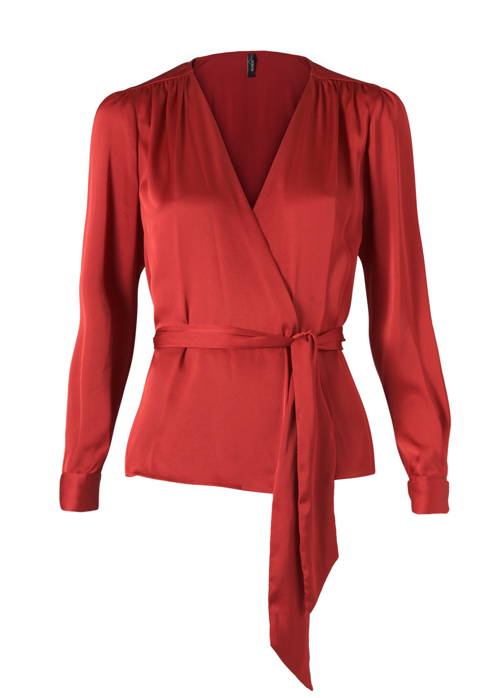 Lyst Mango Wrap Blouse In Red