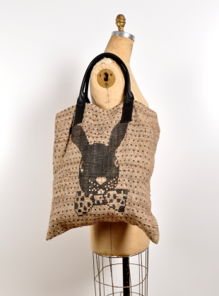 Simeon Farrar Silk Tote With Bunny By in Natural for Men