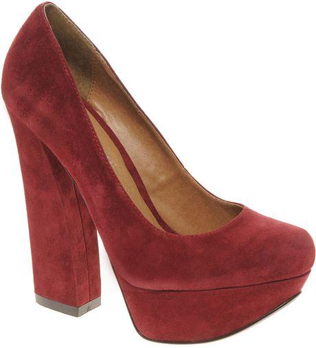 aldo gyllenband block heel platform shoes in lyst