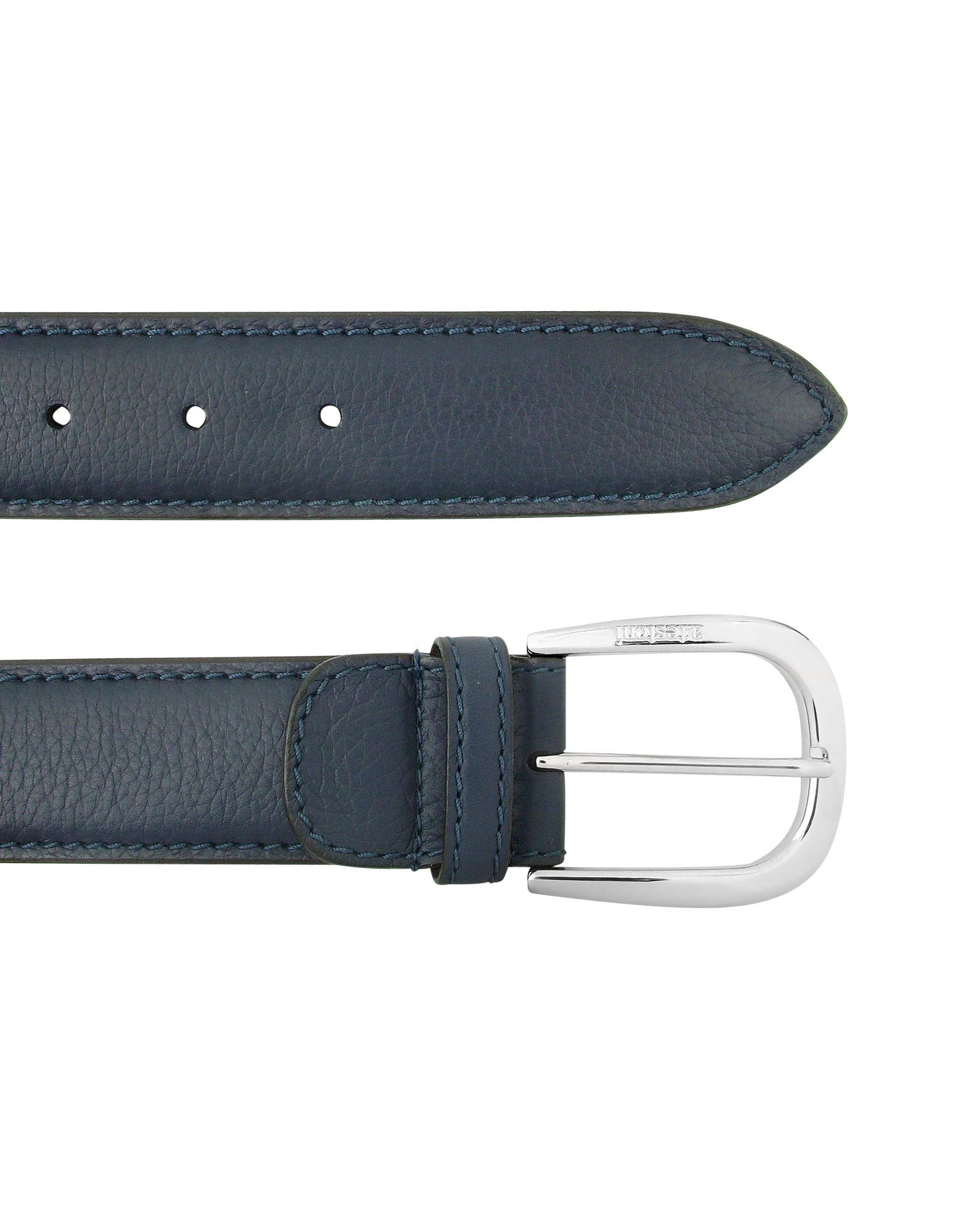 a testoni mens china blue calf leather belt in blue for