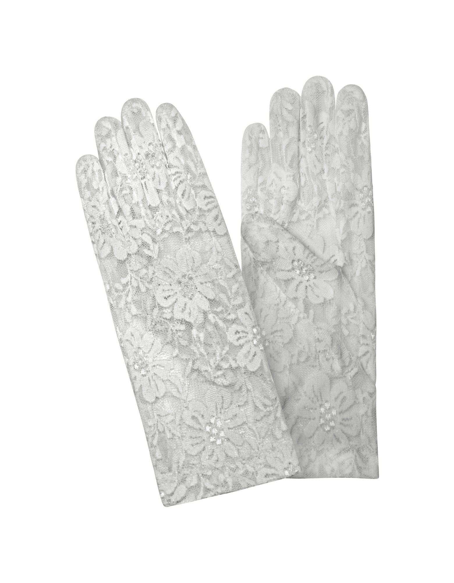 forzieri womens white flowered lace gloves in white lyst