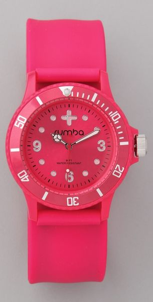 Rumbatime Neon Pink Perry Slap Watch in Pink