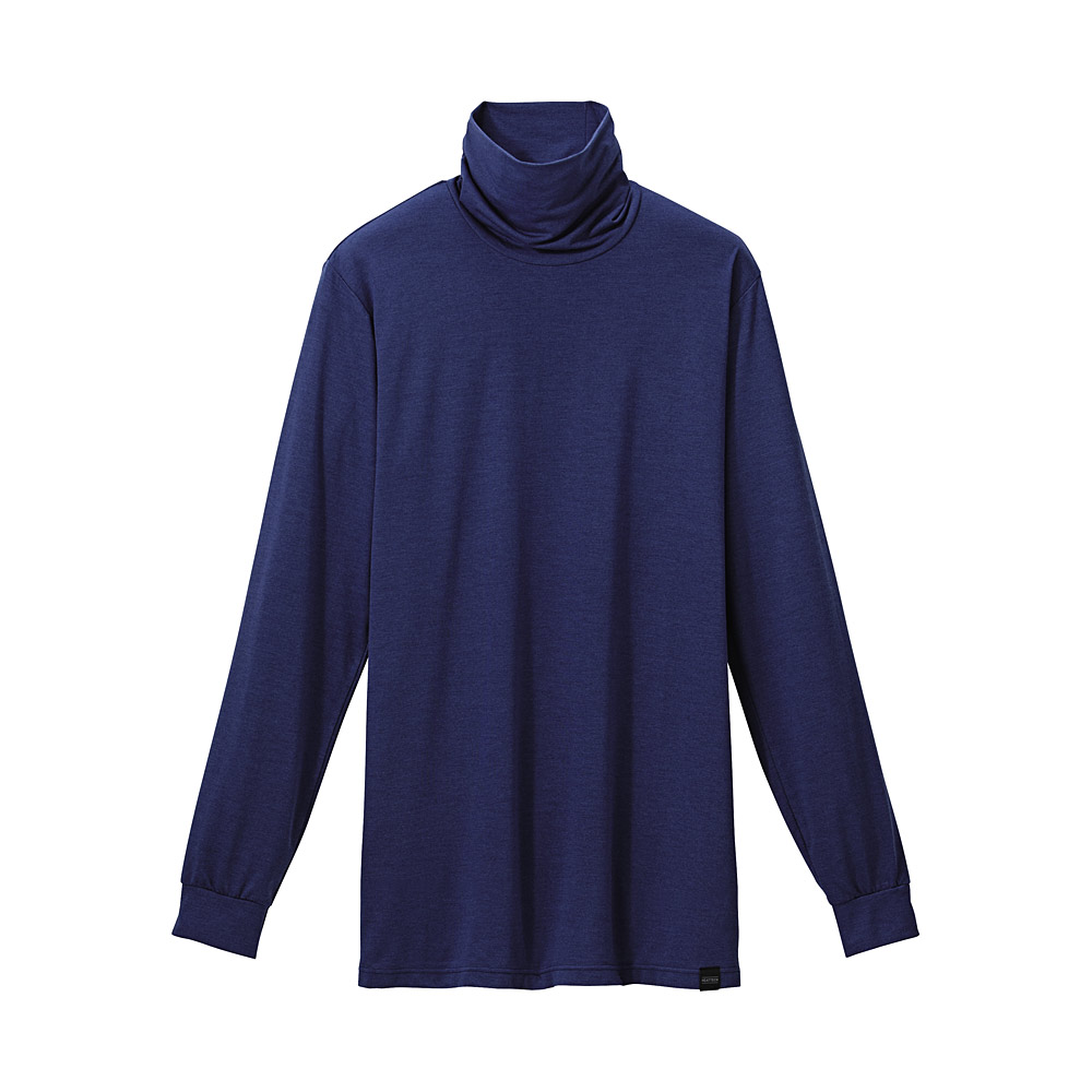 Uniqlo Heattech Polo-neck Long Sleeve T Shirt in Blue for ...