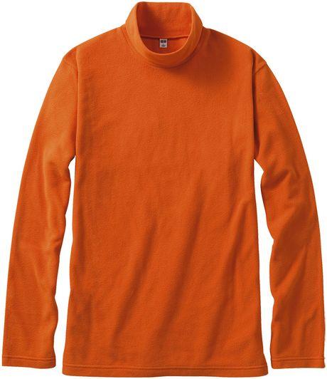 Uniqlo men micro fleece mock neck long sleeve t shirt in for Mock long sleeve t shirts