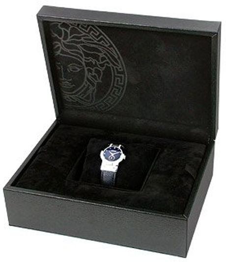 Versace Madison  Ladies Black Round Dial Diamond Watch in Black - Lyst