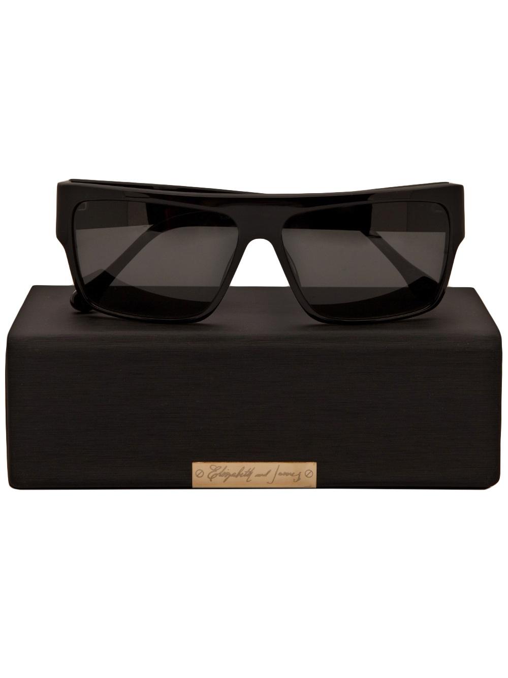Elizabeth and James Ortega Sunglasses in Black