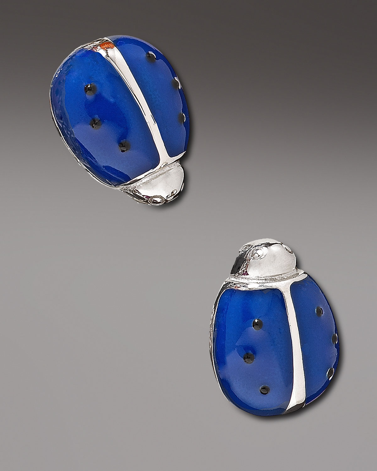 Jan Leslie Small Ladybug Cuff Links in Blue for Men | Lyst