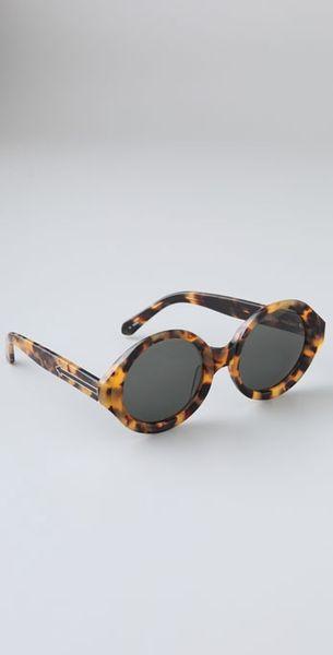 Karen Walker Number Six Sunglasses in Animal