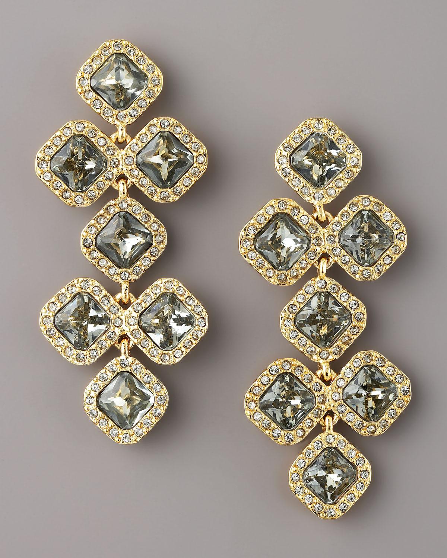 846b56bd4f6cb kate spade new york Black Pave Crystal Chandelier Earrings