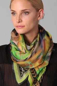 Matthew Williamson Ottoman Wool Striped Scarf - Lyst