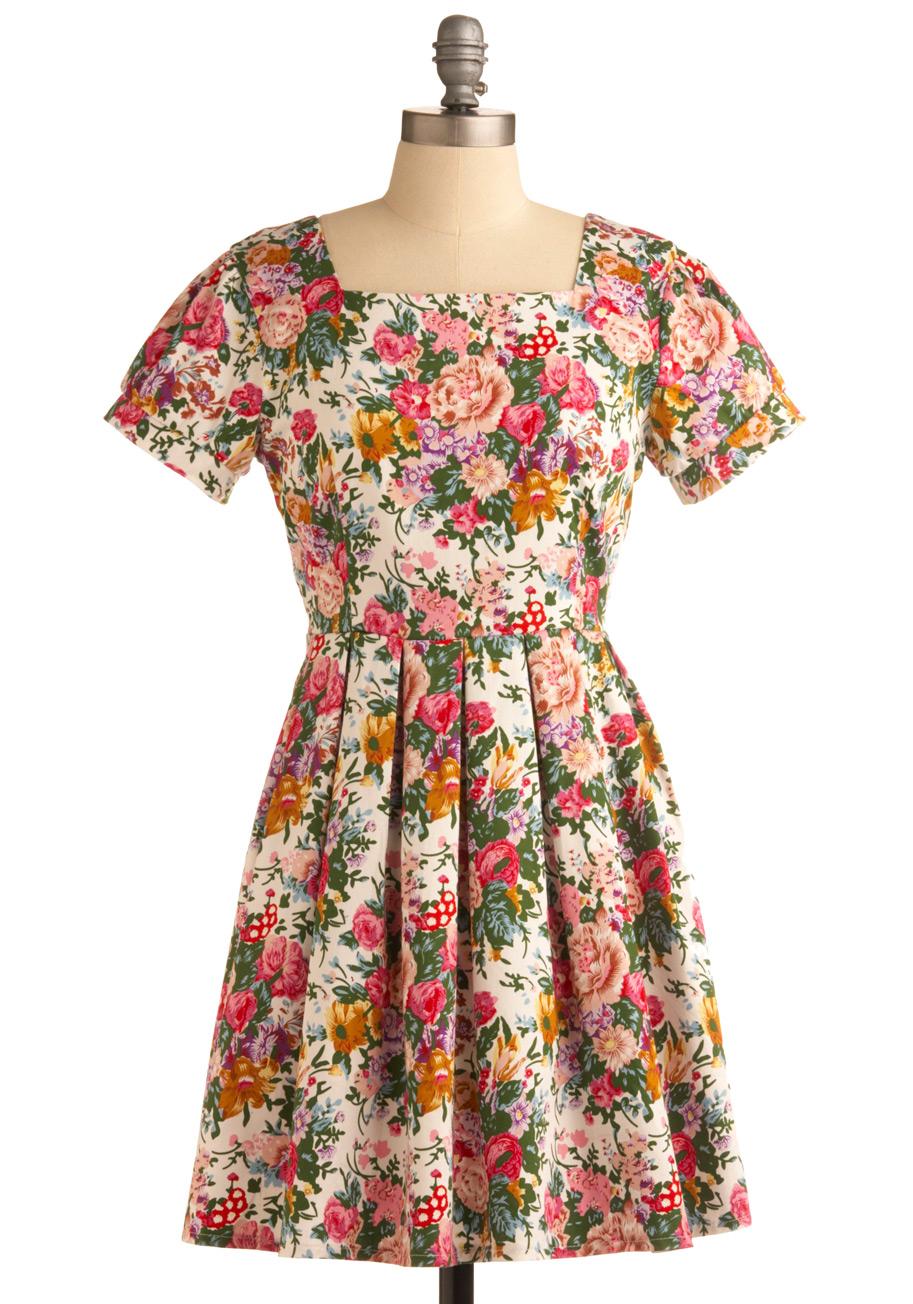 Modcloth Flower Market Morning Dress