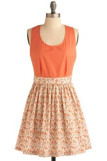 ModCloth Melon Patch Dress - Lyst