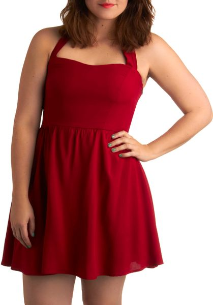 Modcloth Singing Shirley Dress - Plus Size in Red   Lyst - photo #4