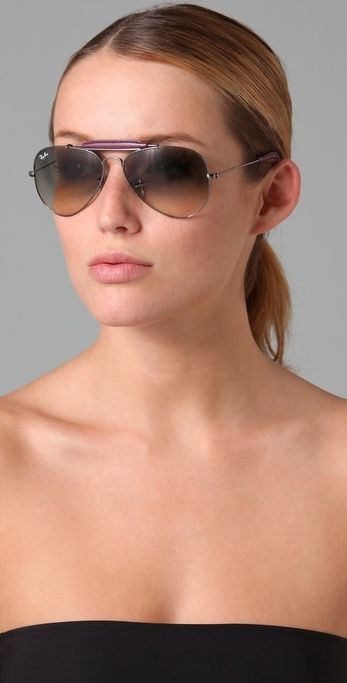 748d84768 Ray-Ban Craft Outdoorsman Sunglasses in Purple - Lyst