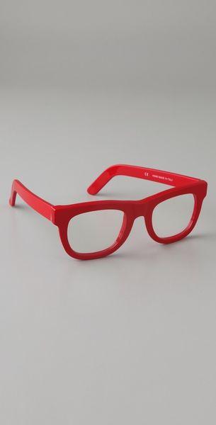 Super Sunglasses Ciccio Glasses in Red - Lyst