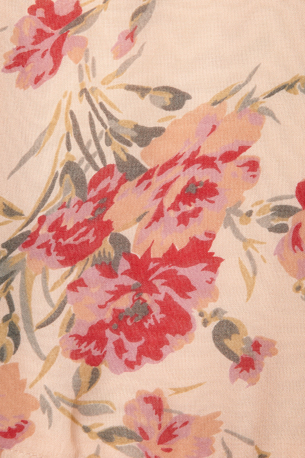 Topshop Long Sleeve Rose Print Blouse 97