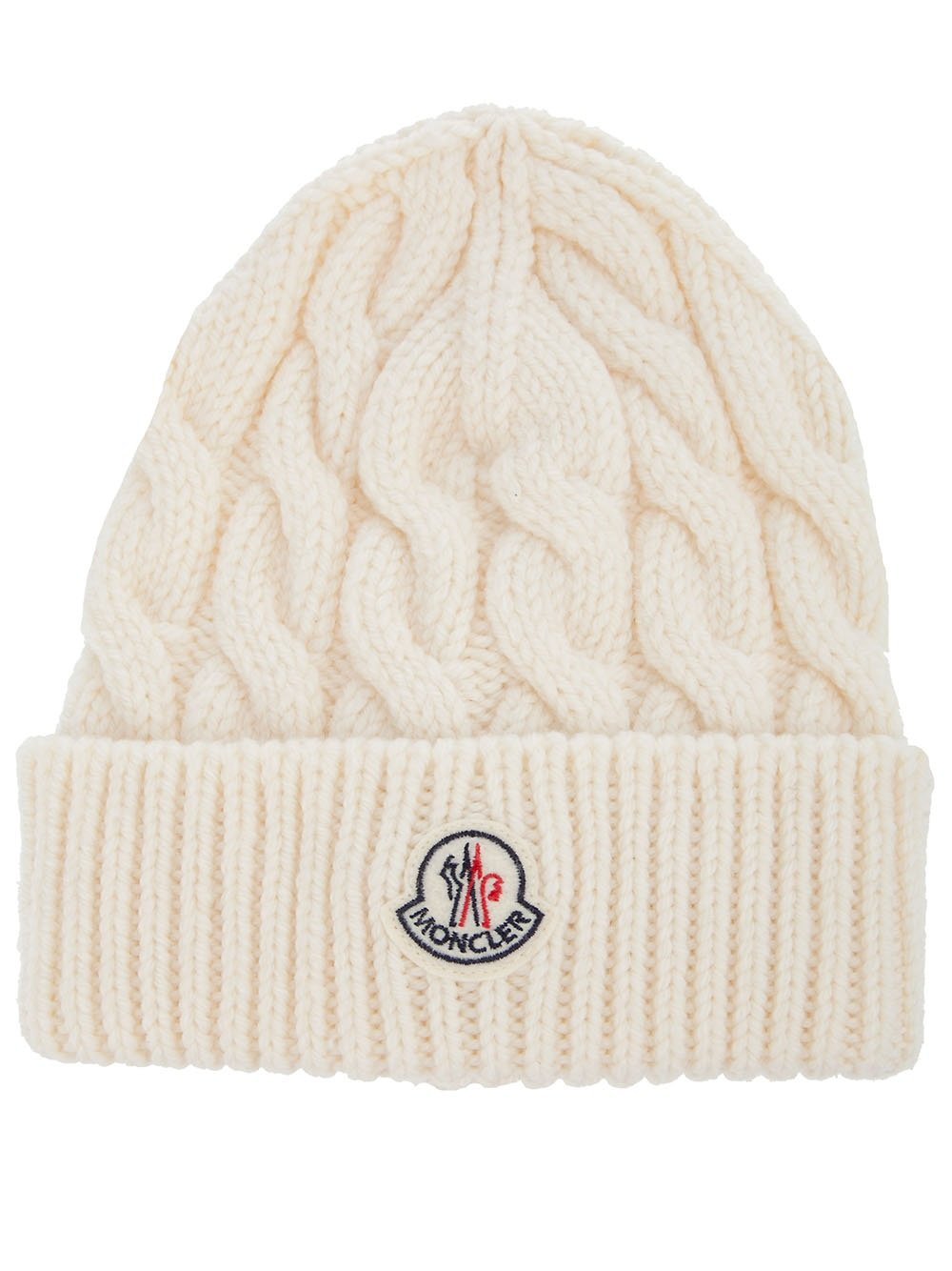 Moncler Cable Knit Hat in Natural for Men - Lyst c3fca0a4a