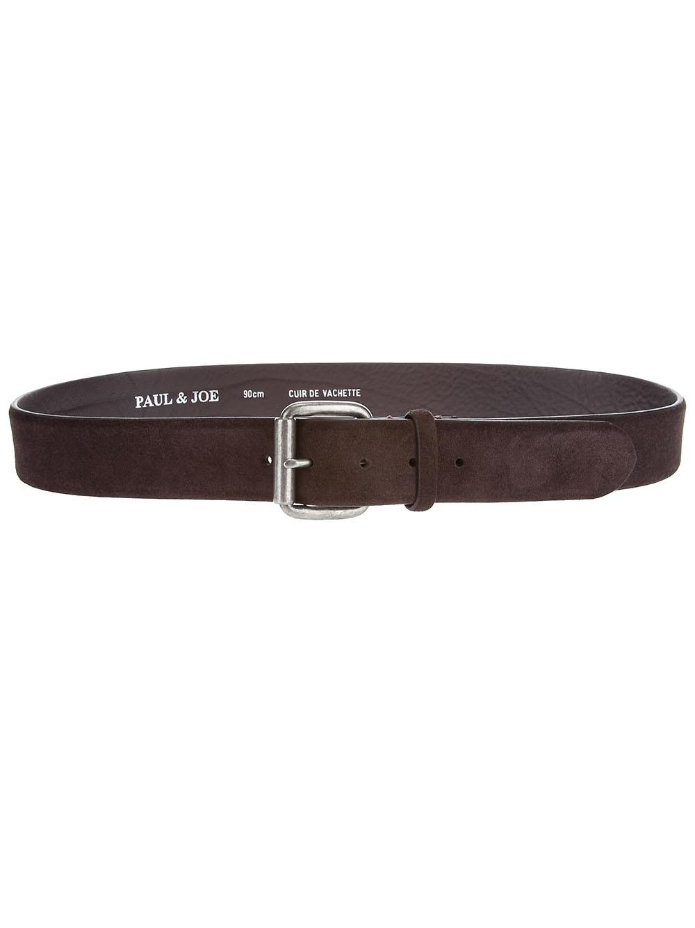 paul joe leather belt in brown for lyst