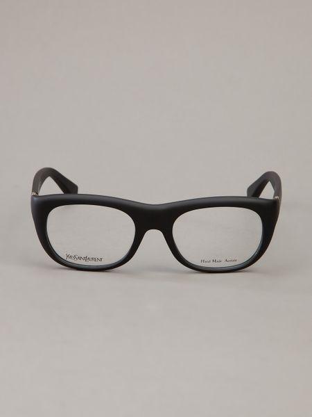 Saint Laurent Thick Frame Glasses in Black for Men Lyst