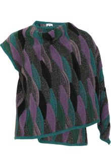 M Missoni Patterned Asymmetric Draped Cardigan - Lyst