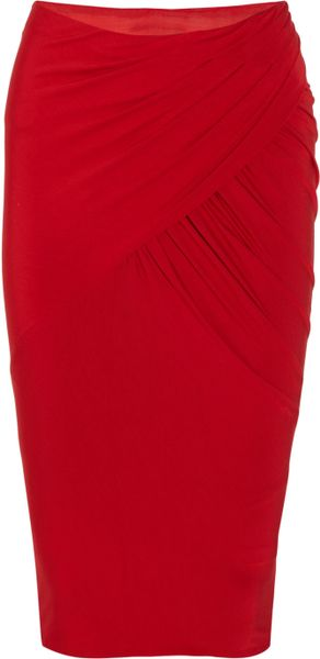 Donna Karan New York Stretch-jersey Pencil Skirt - Lyst