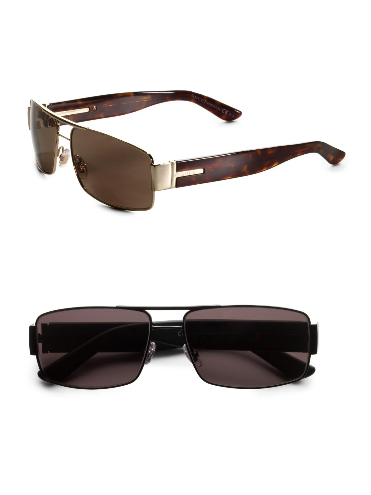 Lyst Gucci Navigator Sunglasses In Black For Men