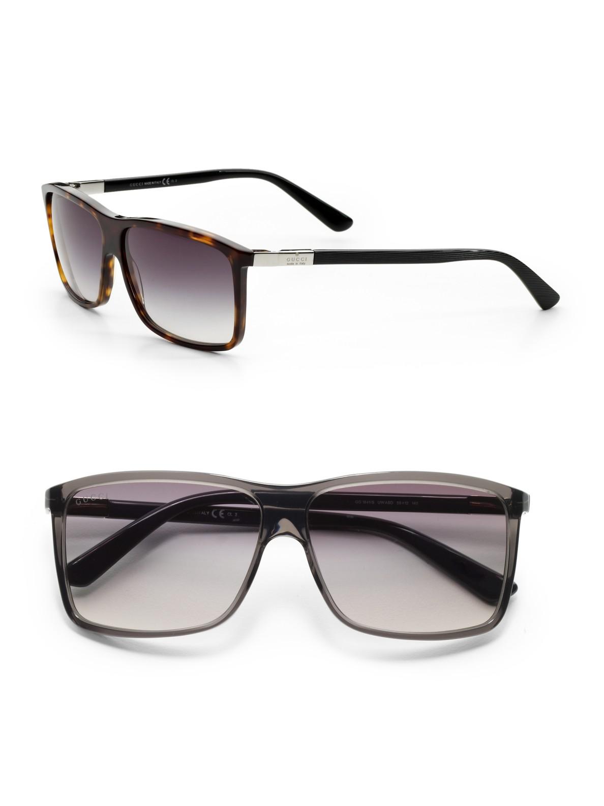 Gucci Wayfarer Sunglasses In Brown For Men Lyst