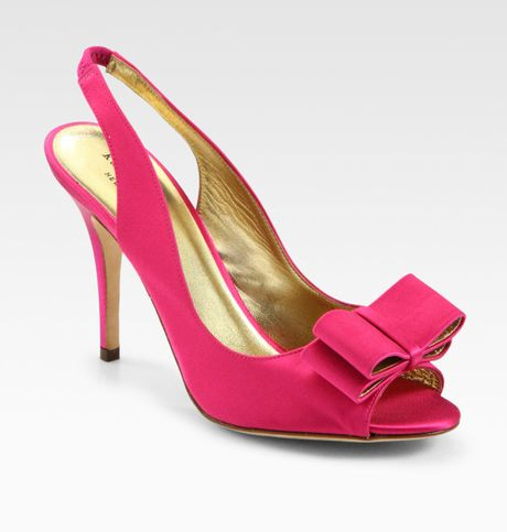 kate spade high heel shoes in pink fuchsia lyst