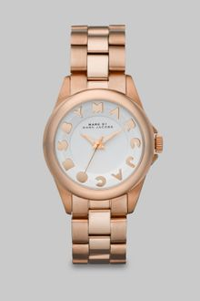Marc By Marc Jacobs Logo Embellished Stainless Steel Watch/rose Goldtone Ip - Lyst