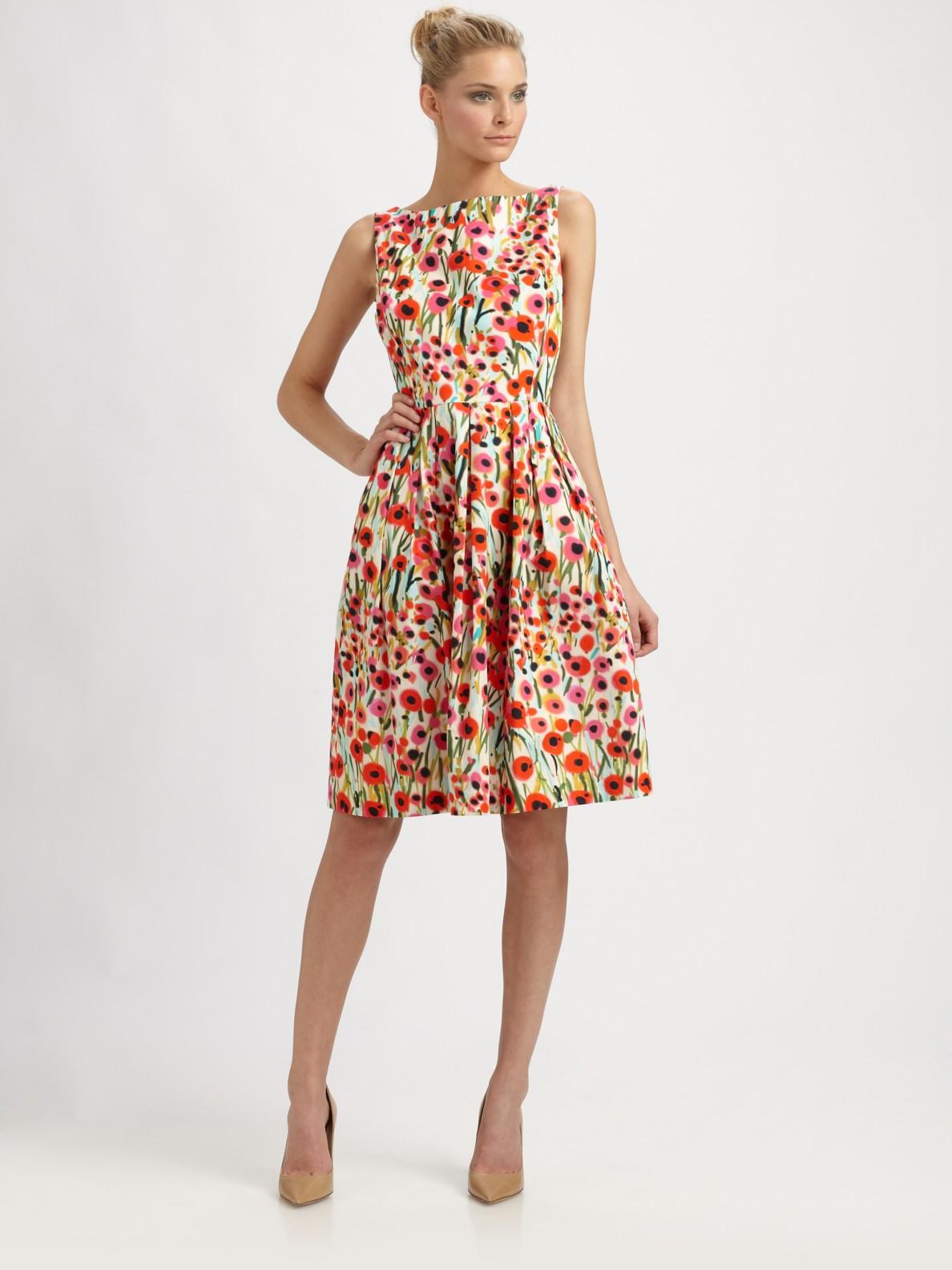 Lyst Milly Lettie Frock Dress In Poppy Field Print