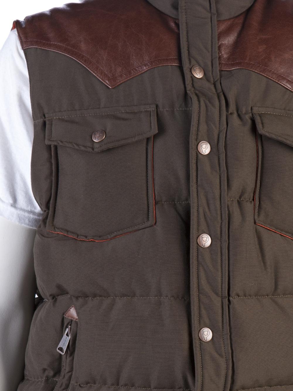 Penfield Stapleton Vest in Green (Brown) for Men