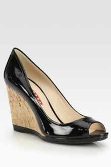 Prada Wedge Sandals - Lyst